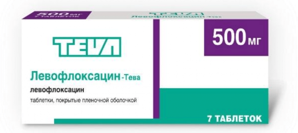 Левофлоксацин в таблетках 500 мг