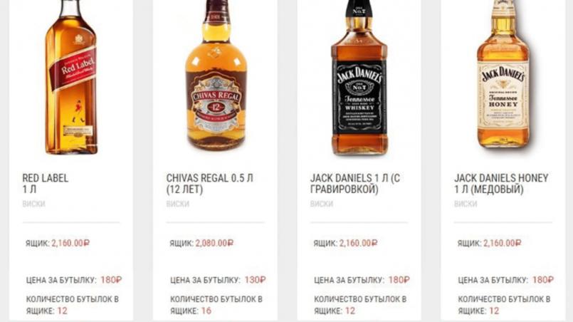 Дубликаты элитного алкоголя